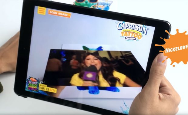 Capri Sun Tattoo nickelodeon Augmented Reality App